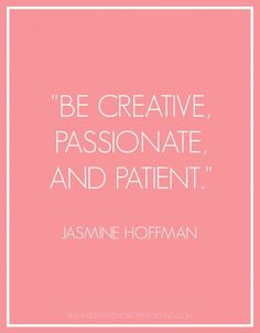 """""""Passion is one great force that unleashes creativity, because if you're passionate about something, then you're more willing to take risks."""" -Yo-Yo Ma"""