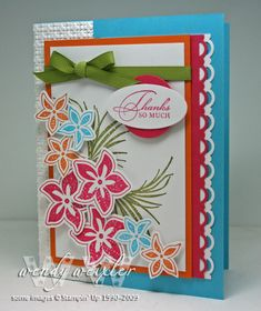WMW Tropical Thanks by Wendybell - Cards and Paper Crafts at Splitcoaststampers