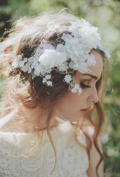 Bridal Flower crawn I Diadema de novia de flores