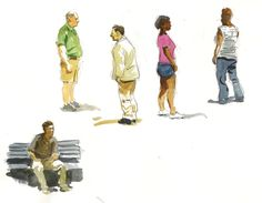 On my last outing in Battery Park I decided to spend that lunch hour sketching the people in the park. This is not an easy thing to do since...