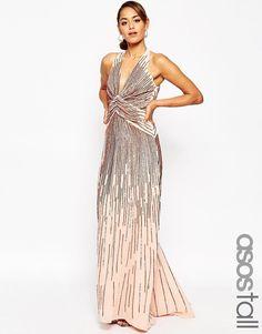"""Pin for Later: Die schönsten Flapper-Kleider für jede Figur  ASOS """"Red Carpet"""" Rosa Maxikleid mit tiefem Ausschnitt und Pailletten im Stil der 20er (212 €)"""