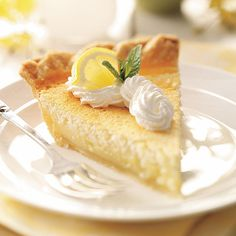 Mom's Lemon Custard Pie Recipe -My mother often made this pie back when we were growing up. You might say it's stood the test of time, because today it's still my 75-year-old brother's favorite! The beaten egg whites give it a delicate texture and make this custard pie quite unique! It's a great way to top off any meal. —Jeannie Fritson, Kearney, Nebraska