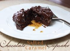 Chocolate salted caramel cupcake, easy and DELICIOUS - Ask Anna