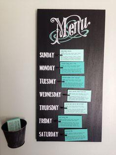 Weekly Menu Planner Board by DuckosDesigns on Etsy