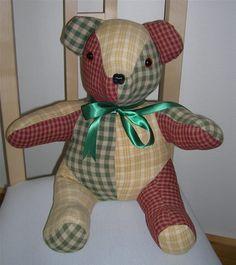 Teddy Bear Patterns Free | patchwork teddy bear a lovely teddy bear which makes…