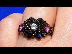 Wire Jewelry, Jewelry Crafts, Jewelery, Handmade Jewelry, Wire Earrings, Jewelry Making Tutorials, Beading Tutorials, Ring My Bell, Ring Tutorial