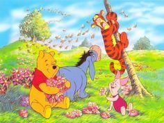 Papel de Parede Gratuito de Desenhos : Ursinho Pooh