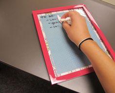 DIY Dry Erase Board #diy #crafts