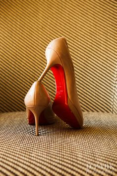 Beautiful Christian Louboutin bridal heels photographed by DPARKPHOTOGRAPHY