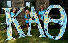 Kappa Alpha Theta Bid Day #KappaAlphaTheta #Theta #BidDay #letters #sorority