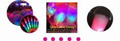 Glow Cotton Candy, Glow in The Dark Sugar Floss, Favors, Glow Decor, Buckets, Neon Theme Parties!