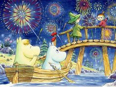 One of Safyre's favorite cartoons, Moomin Moomin Wallpaper, Hd Wallpaper, Moomin Books, Moomin Shop, Moomin Valley, Tove Jansson, Fantasy Fiction, Cute Characters, Christmas Art