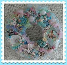 Pastel Mermaid Wreath | Flickr - Photo Sharing!