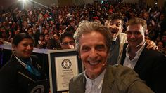 Peter Capaldi accepts Guinness World Records title for Largest gathering of Doctor Who characters at Comic Con event in Mexico | Actor on hand to accept official certificate in Mexico City on Saturday, following successful record attempt during La Mole Comic Con.