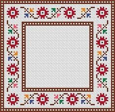 Floral Cross Stitch Frame, free pattern from Alita Designs