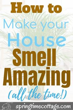 Make your home smell amazing by using these wonderful tips and tricks that will kill bad smells and fill your home with sweet aromas. Use these home smell tips and tricks to make your home smell good all the time. Diy Home Cleaning, Household Cleaning Tips, Cleaning Recipes, House Cleaning Tips, Cleaning Hacks, House Smell Good, House Smells, Cleaners Homemade, Diy Cleaners