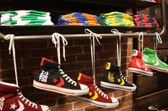CONVERSE HEADQUARTER   The new Converse store features several Boston-themed items, such as ...