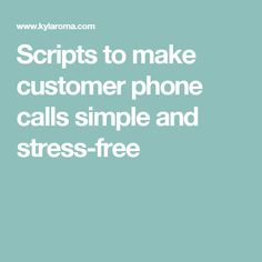pagrafcost • Blog Archive • Call center mock calls script