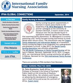 "IFNA @IFNAorg September 2014 Newsletter: ""IFNA Global Connections"". Feature article: Family Nursing in Denmark. #familynursing #IFNAorg"