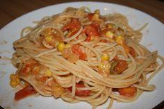 Fotorecept: Špagety na víne