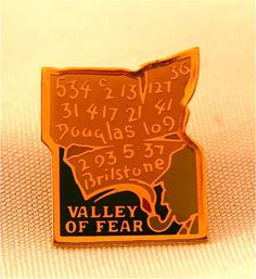 Sherlock Holmes Lapel Pin Valley of Fear by aSherlocksHome on Etsy, $14.95