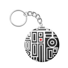 'Modern Vibe 7' by Roz Abellera.  Abstract design influenced by the Modern Art movement. This design explores minimalism and contemporary non representational Modern Art.  #keychain #accessories #RozAbellera #modern #abstract #art