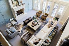 Living Room via Emily Jackson / The Ivory Lane