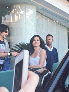 Lana Parrilla leaving hotel and meeting fans #EverAfter