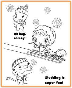 Ni Hao, Kai-Lan Winter Coloring Page