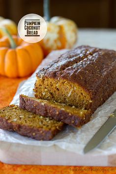 Pumpkin Coconut Bread {Cookbook of the Month Recipe} | Taste and Tell