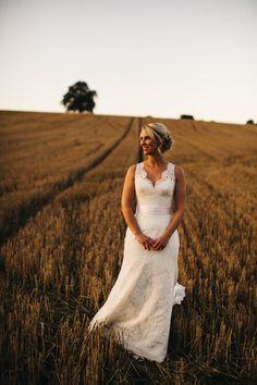 Bride wears Augusta Jones - Daphne