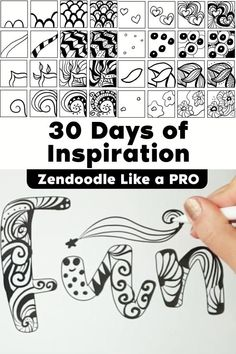 Zentangle Drawings, Doodles Zentangles, Zentangle Patterns, Zen Doodle Patterns, Mandala Art Lesson, Mandala Drawing, Tangle Doodle, Doodle Doodle, 3d Art Drawing