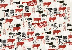Vic's Meat butcher pattern