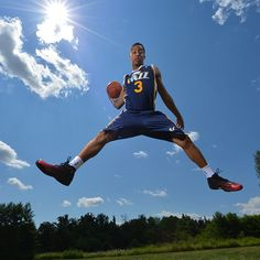 Trey Burke of the Utah Jazz poses for a portrait during the 2013 NBA Rookie Photo Shoot on August 6, 2013 at the MSG Training Facility in Tarrytown, New York. (Photo by Jesse D. Garrabrant/NBAE via Getty Images)