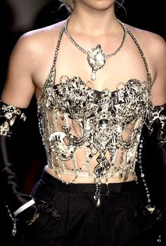 Haute couture bling with Jean Paul Gaultier.