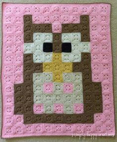 Ready to ShipCrochet 8-Bit Pixel Art Baby by simplyhappycreations
