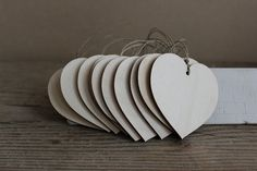 Wooden hearts / set of 50 / 2.8 x 2.8 wooden heart by NeliStudio