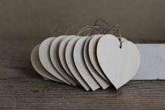 Wooden hearts / set of 50 / 2.8 x 2.8 wooden heart by NeliStudio