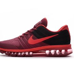 sports shoes 247fe 10321 Online shopping Nike Air Max 2017 Men Red Black Running Shoes for cheap in  high quality.
