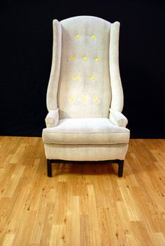 Hotel Lobby High Back Wing Chair... from etsy