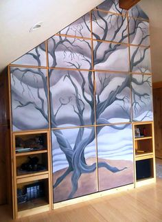 Mural for a meditation room, Colorado by Charles Andrade