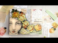 creating a mixed media artwork with pencil sketch portrait - YouTube