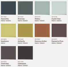 2015 Color Forecast   Sherwin Williams   Voyage. The Colors In The Voyage  Palette Are