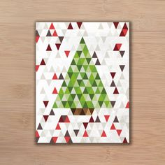 would make a very cool christmas quilt! Low volume background and scrappy greens