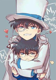 Kaito and conan Magic Kaito, Anime Chibi, Kawaii Anime, Manga Anime, Anime Art, Conan Comics, Detektif Conan, Sherlock Holmes, Detective Conan Shinichi