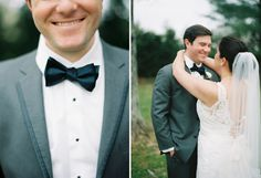 Nathan Westerfield Photography http://www.nathanwesterfield.com Southern Plantation Wedding Bow tie, Navy and Gray