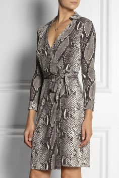 DVF Python - Great wrap dress! Easy way to incorporate animal prints without feeling like you live in the jungle.