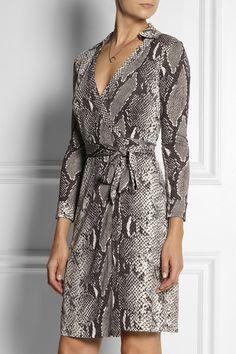 Dvf Amelia Python Print Dress Wrap Dresses Python Prints