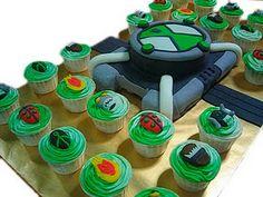 Ben 10 Cupcakes and Cake