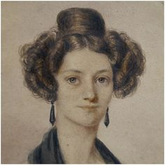 This really is an exceptional quality portrait miniature; one of the finest portrait miniatures that we have retailed to date. brThis stunning portrait is by the French artist Ernest Joseph Angelon Girard (b 1813 – d 1898). Ernest Girard was a talented and highly regarded miniaturist. His famous sitter's include Alfonso XII King of Spain. His works are highly sought after, and rarely come up for sale making this a unique opportunity to own such a fine painting.pThis beautiful watercolor painting Victorian Life, Baker Street, French Artists, Woman Face, Young Women, Watercolor Paintings, 19th Century, Miniatures, Silhouette